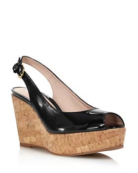 91ab09295d2f Stuart Weitzman - Women s Jean Peep Toe Platform Wedge Sandals ...
