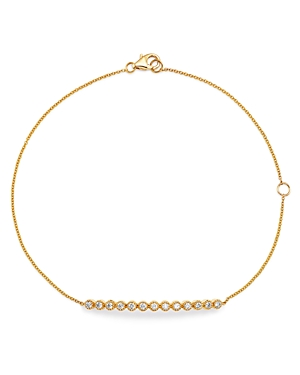Bloomingdale's Diamond Milgrain Bar Bracelet in 14K Yellow Gold, 0.25 ct. t.w. - 100% Exclusive