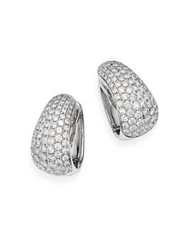 Bloomingdale's - Pavé Diamond Huggie Hoop Earrings in 14K White Gold. 3.5 ct. t.w. - 100% Exclusive