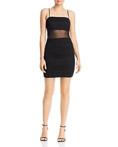 M.N.I. - Ruched Mesh Mini Dress