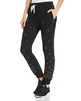 Beach Riot - Embellished Leopard Sweatpants