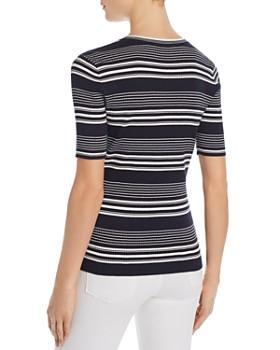 FRAME - Striped Rib-Knit Tee