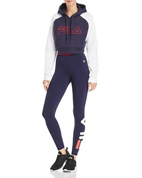 FILA - Valeria Cropped Hooded Sweatshirt