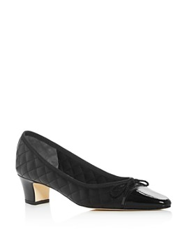 Paul Mayer - Women's Regal Roma Quilted Cap-Toe Pumps
