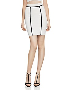 BCBGMAXAZRIA - Two-Tone Tube Skirt
