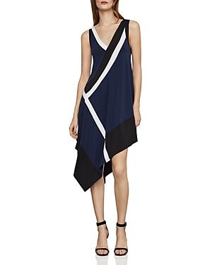 Bcbgmaxazria Dresses COLOR-BLOCK ASYMMETRIC DRESS