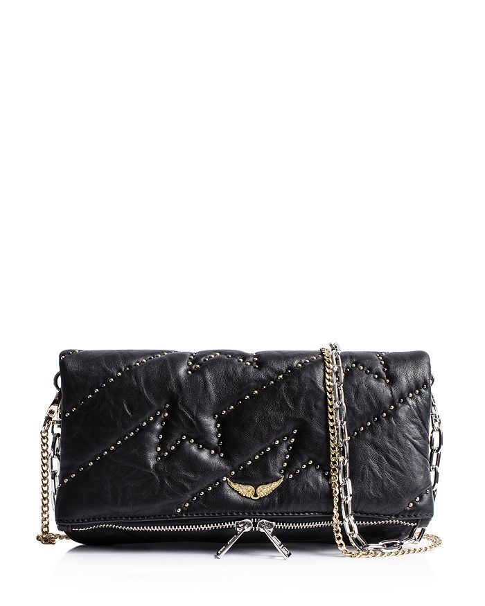 Zadig & Voltaire - Rocky ZV Studded Leather Clutch