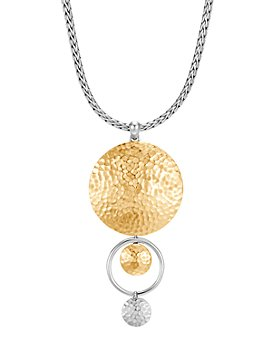 JOHN HARDY - 18K Yellow Gold & Sterling Silver Dot Drop Pendant Necklace, 16""