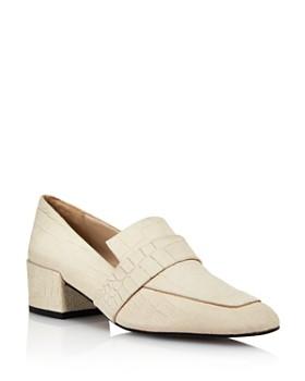 Freda Salvador - Women's Rock Block Heel Loafers