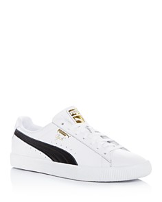 PUMA - Men's Clyde Core Leather Low-Top Sneakers