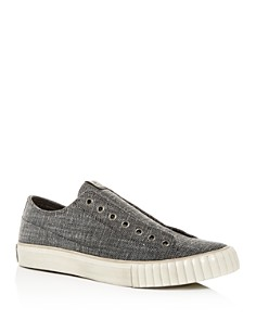 John Varvatos Bootleg - Men's Textured Canvas Slip-On Sneakers