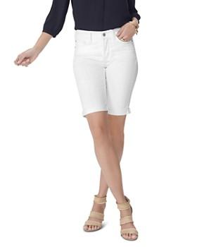 8cb2d478a32ea6 NYDJ - Briella Cuffed Denim Bermuda Shorts in Optic White ...
