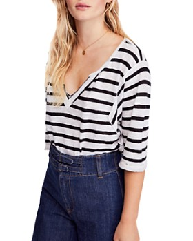 Free People - Head In The Clouds Striped Tee