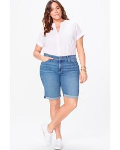 NYDJ Plus - Briella Cuffed Denim Shorts in Heyburn