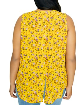 Sanctuary Curve - Sleeveless Floral-Print Top