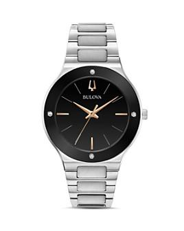 Bulova - Futuro Millenia Silver-Tone Link Bracelet Watch, 43mm
