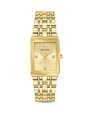 Futuro Quadra Gold-Tone Link Bracelet Watch