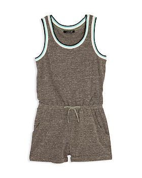 50d65b6998aea4 JOE S - Girls  Heather-Jersey Sleeveless Romper - Big Kid ...