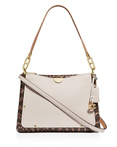COACH - Dreamer Snakeskin Shoulder Bag