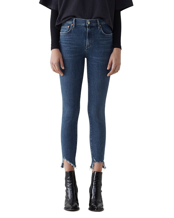 AGOLDE - Sophie High Rise Crop Skinny Jeans in Discretion