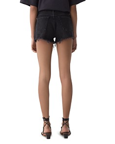AGOLDE - Parker Cutoff Denim Shorts in Tidal