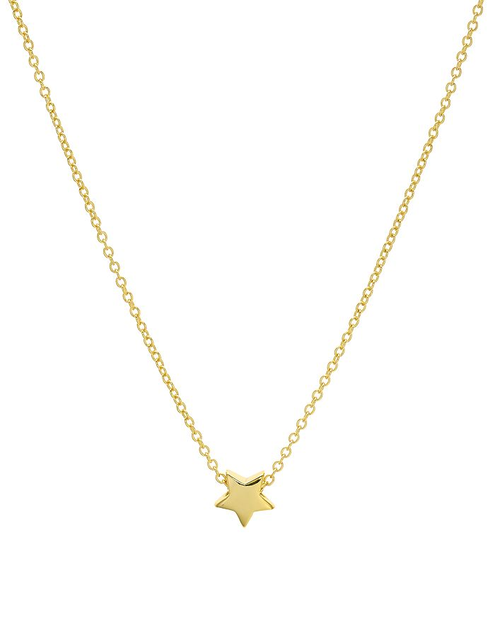 "AQUA - Star Pendant Necklace in 14K Gold-Plated Sterling Silver or Sterling Silver, 16"" - 100% Exclusive"