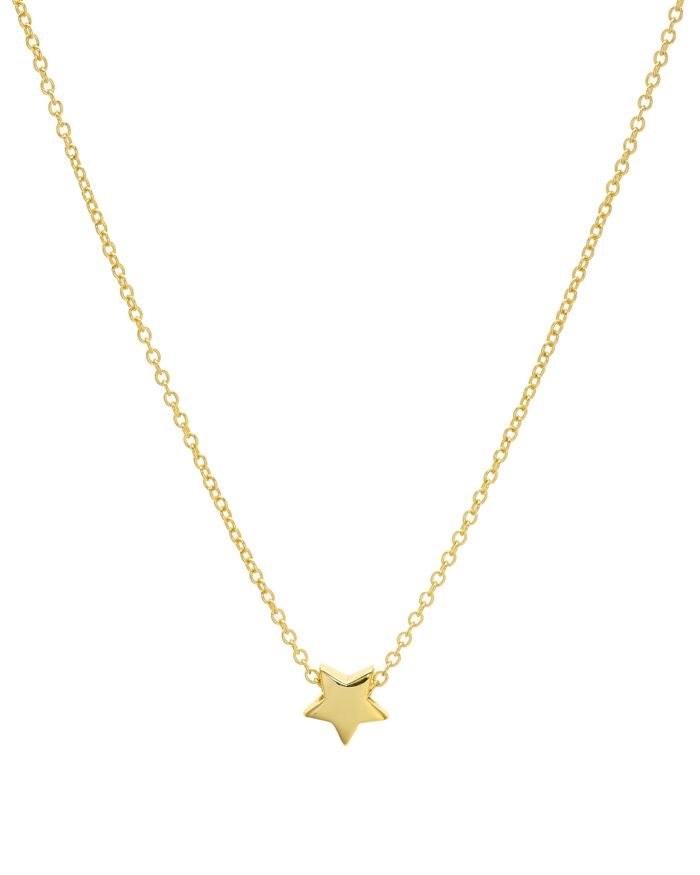"""AQUA Star Pendant Necklace in 14K Gold-Plated Sterling Silver or Sterling Silver, 16"""" - 100% Exclusive    Bloomingdale's"""