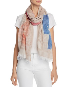 Fraas - Watercolor Floral & Heart Scarf