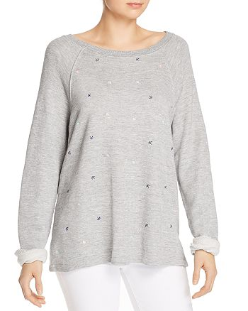 Splendid - x Gray Malin Parasol Embroidered Sweatshirt