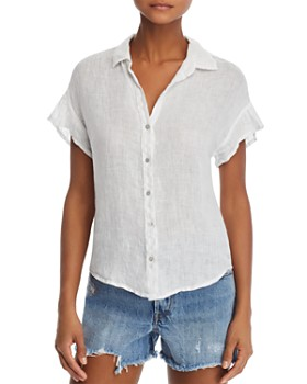 Bella Dahl - Flounced Short Sleeve Shirt