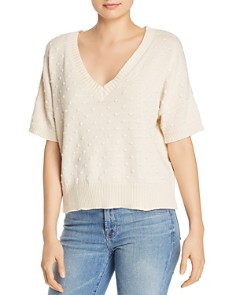 Nation LTD - Gigi Popcorn-Stitched V-Neck Sweater