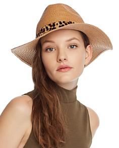 August Hat Company - Leopard Print-Trim Hat - 100% Exclusive