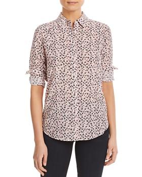 Relative Pi - Floral-Print Silk Shirt