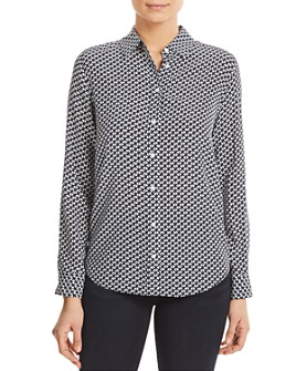 Relative Pi - Geo-Print Silk Shirt