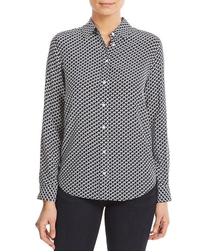 Relative Pi - Geo-Print Silk Shirt