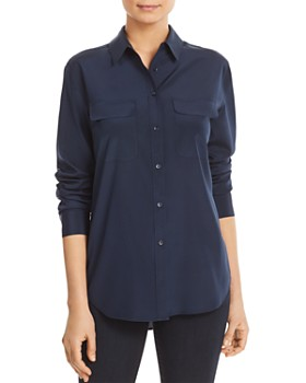 Relative Pi - Silk Flap-Pocket Shirt
