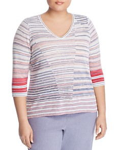 NIC and ZOE Plus - Skyline Striped Top