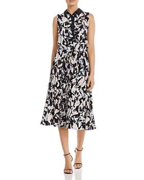 d02dbaaab2eed DKNY - Floral-Print Midi Dress ...