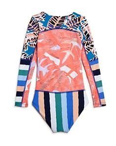 Maaji - Girls' Ocean Joiness Reversible One-Piece Rash Guard Suit - Little Kid, Big Kid