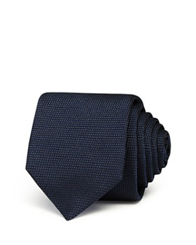 HUGO - Textured Solid Silk Skinny Tie