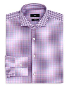 BOSS - Shadow Check Regular Fit Dress Shirt