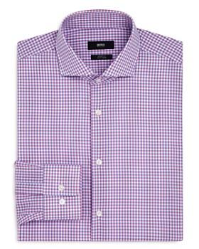 2ba822d84 BOSS - Shadow Check Regular Fit Dress Shirt ...