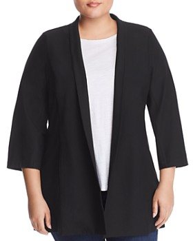 a8568adc8675e Eileen Fisher Plus - Lightweight Open Jacket ...