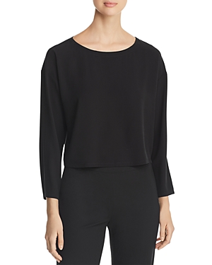 Eileen Fisher Tops CROPPED SILK TOP