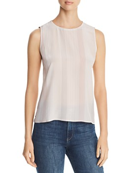 d59cd61a8cc9d0 Eileen Fisher - Sleeveless Striped Silk Top - 100% Exclusive ...