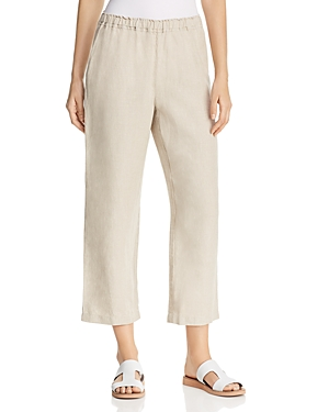Eileen Fisher Pants ORGANIC LINEN CROPPED PANTS