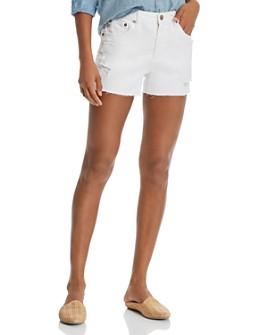 AG - Hailey Cutoff Denim Shorts in 1 Year Low White
