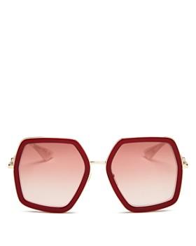 b9dc56d0373 Gucci - Women s Mirrored Hexagonal Sunglasses