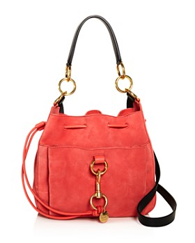 99d964b4d027 See by Chloé - Tony Wooden Pink Leather & Suede Shoulder Bag ...