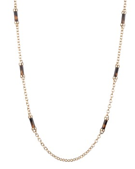 Ralph Lauren - Tortoise Barrel Strandage Necklace, 42""